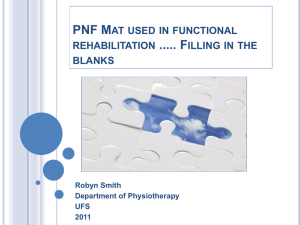 PNF Mat work Principles used as used in functional clinical practice