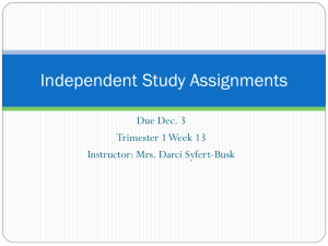 6th Assignments T2 W2