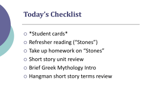 Short Story Review and Brief Mythology Intro