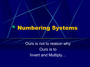 Numbering Systems - WO-TEJ4