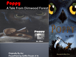 Poppy A Tale From Dimwood Forest