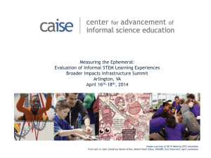Measuring the Ephemeral: Evaluation of Informal STEM Learning