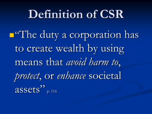 Arguments Against CSR