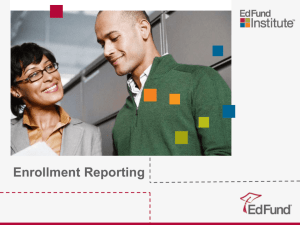 Enrollment Reporting