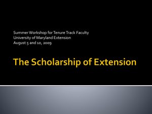 The Scholarship of Extension
