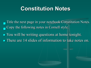 PowerPoint Presentation - The American Constitution