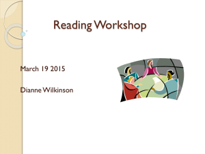 Reading Workshop and CAFE