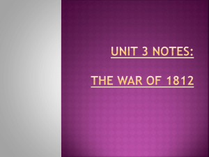 LECTURE 08_The War of 1812