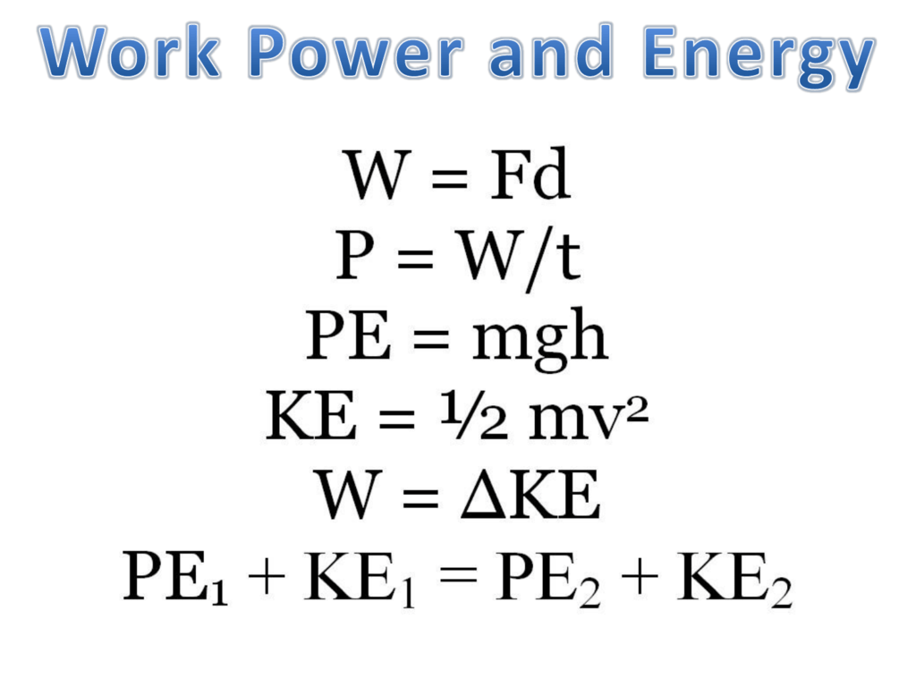 Work/Energy/Power Powerpoint