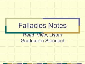 Fallacies Notes - Teaching Media Literacy wiki