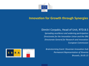 Innovation for Growth through Synergies