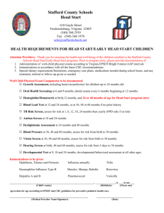 Health Requirements & TB Risk Assessment Forms