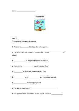 Science Worksheet - Primary Resources