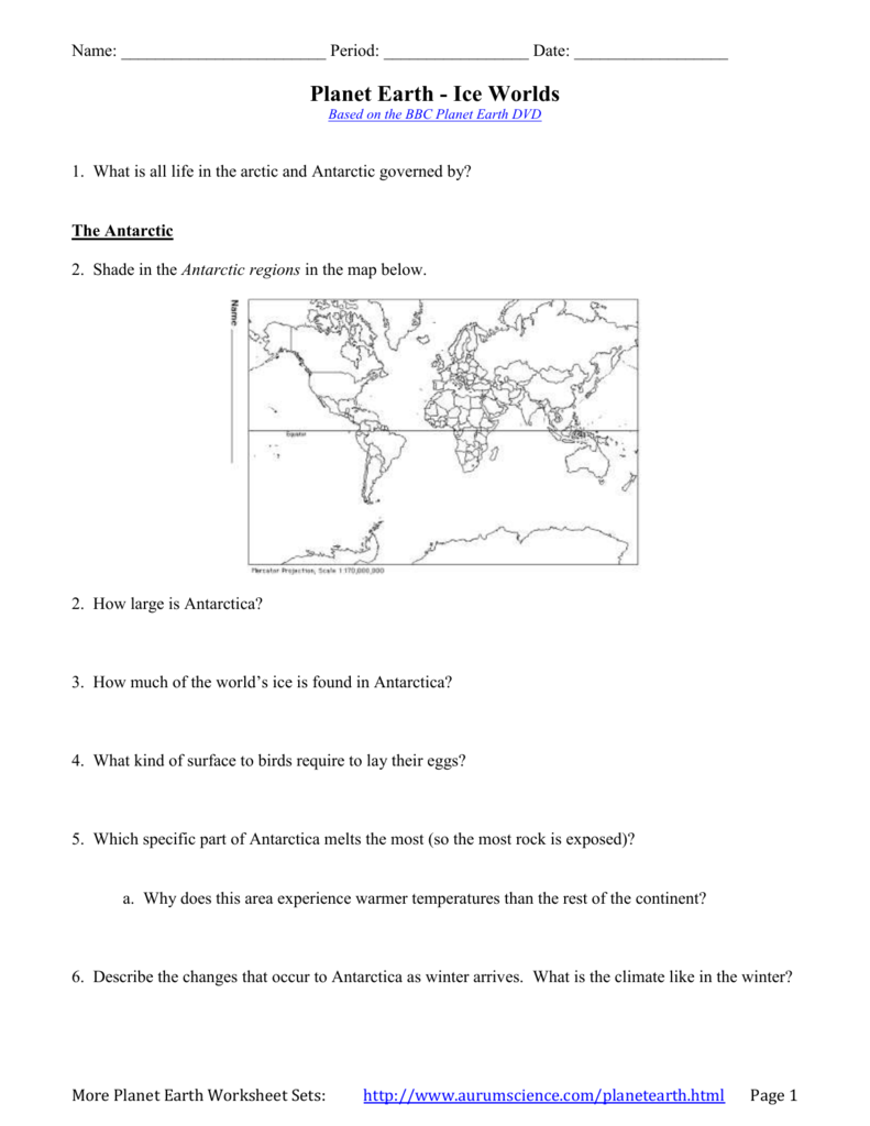 Worksheets Planet Earth Pole To Pole Worksheet planet earth ice worlds mr macmillan general science
