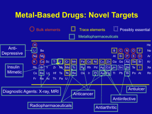 Metal-Based Drugs: Novel Targets - Research Network for Metals in