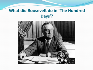 What did Roosevelt do in *The Hundred Days