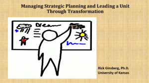 CADREI 2015 Strategic Planning Rick Ginsberg