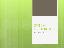 gws sms introduction - Green Wave Shipping Pte. Ltd.