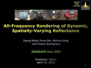 All-Frequency Rendering of Dynamic, Spatially