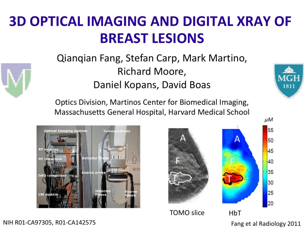 3D Optical Imaging and Digital X