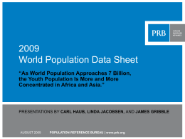 PowerPoint - Population Reference Bureau