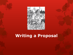 Writing-a-Proposal