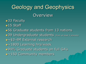 Geology and Geophysics