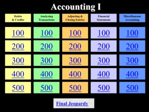 Accounting 1 Chapter 1 to 4 Review