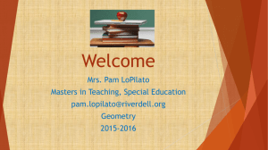 Geometry Course PowerPoint - River Dell Regional School District