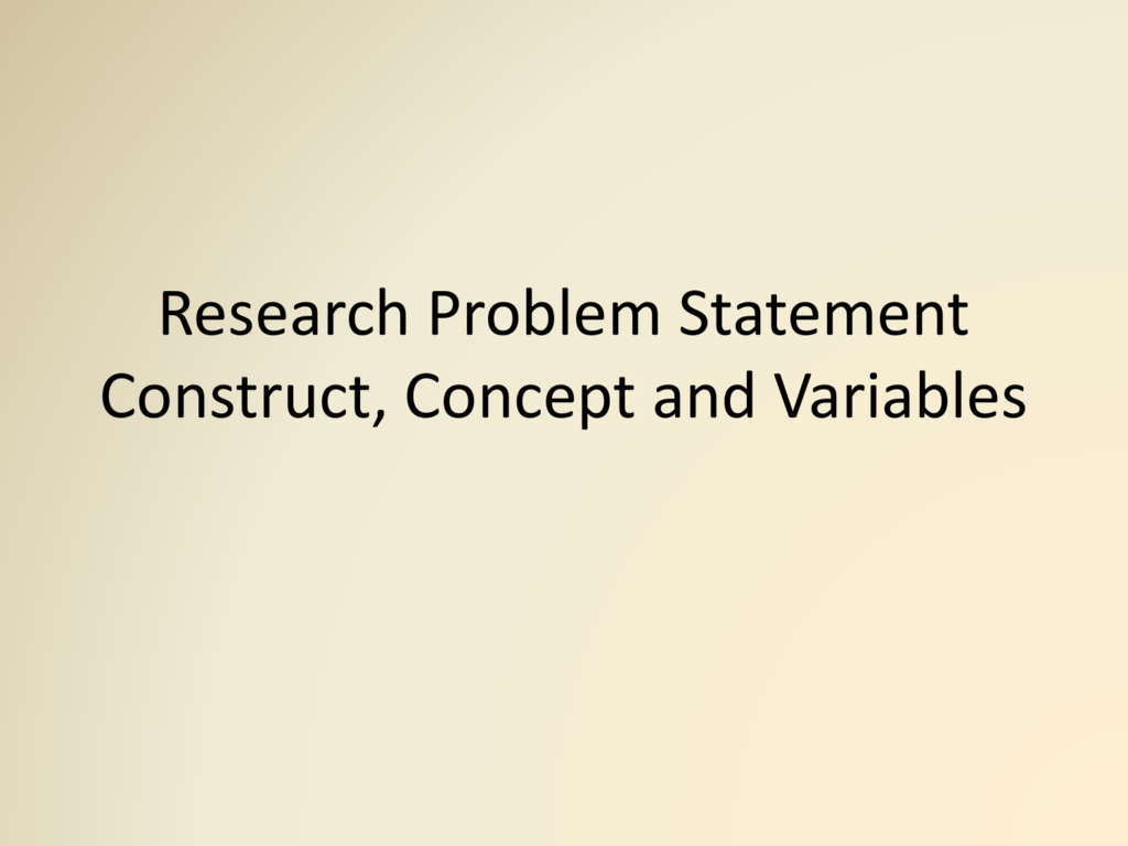 action research problem statement