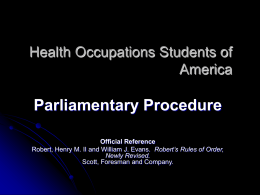 Parliamentary Procedure PowerPoint