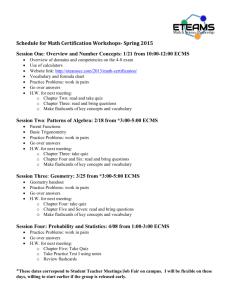 Schedule of STEM Thursdays-Spring 2014
