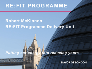 RE:FIT Programme Delivery Unit