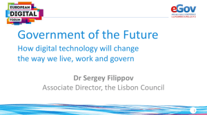 "Keynote ""Government of the Future: How Digital Technology will"
