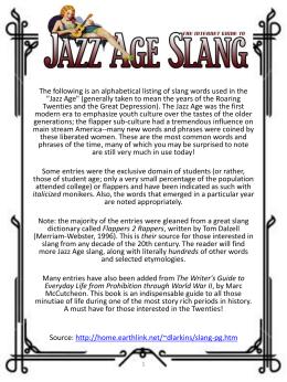 slang words of 1920