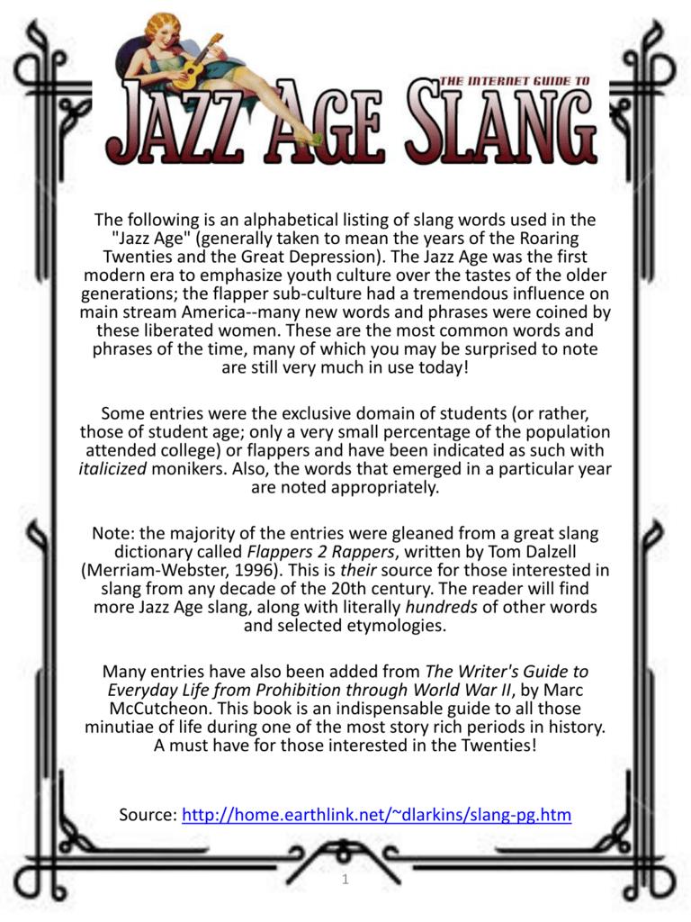 1920-slang - Your Break Starts Today!
