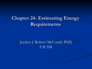 Chapter 28 Nutritional Guidelines and Energy