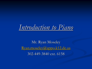 Introduction to Piano