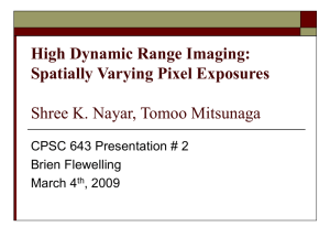 High Dynamic Range Imaging: Spatially Varying Pixel Exposures