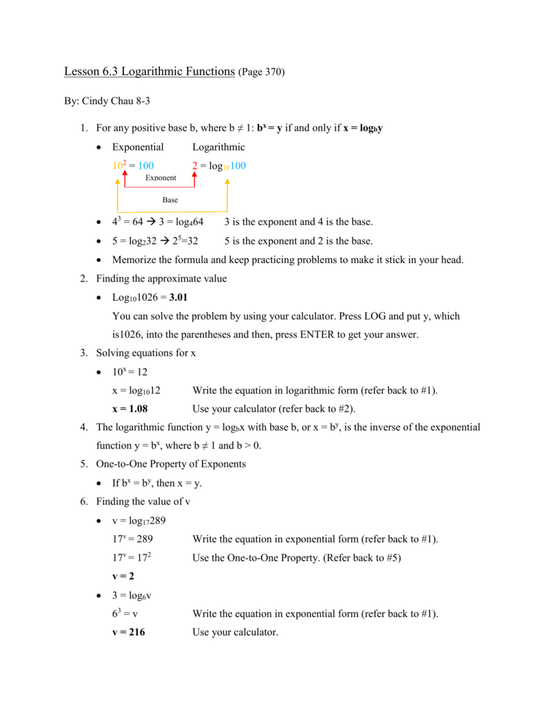 Logarithm Expanded Form Image collections Form Example Ideas – Logarithmic Equations Worksheet