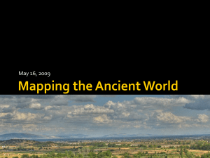 GIS mapping of the Ancient World