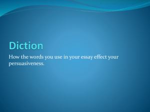 Diction of your persuasive essay