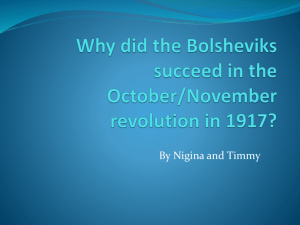 Why did the Bolsheviks succeed in the October/November revolution