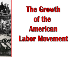 Growth of Labor Movement