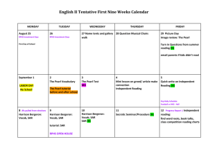 English II Tentative First Nine Weeks Calendar