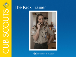 The Pack Training (PowerPoint)