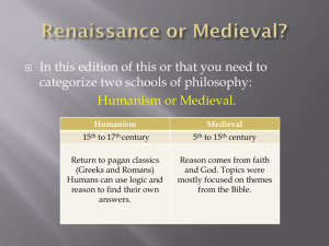 Renaissance or Medieval