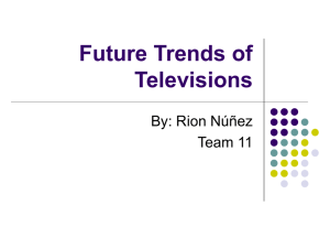 Future Trends of Televisions
