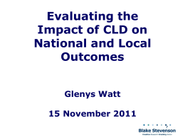 Slide 1 - Community Learning and Development Managers Scotland