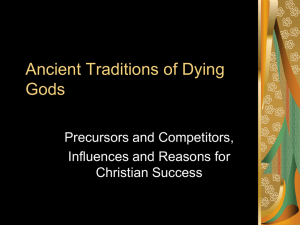 Ancient Traditions of Dying Gods